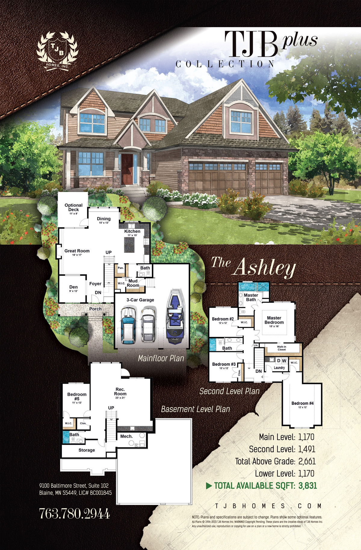 TJB Plus Collection Home Plans - The Ashley