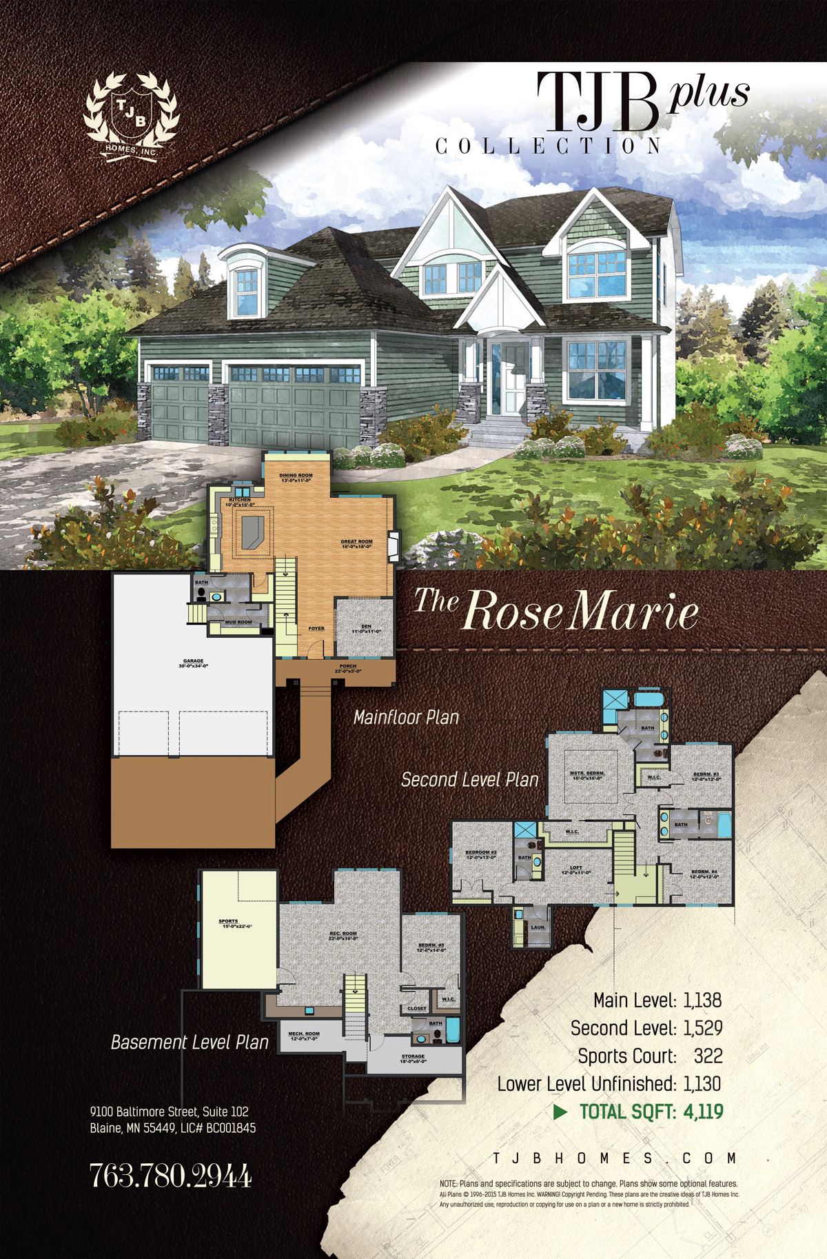 TJB Plus Collection Home Plans - The Rose Marie
