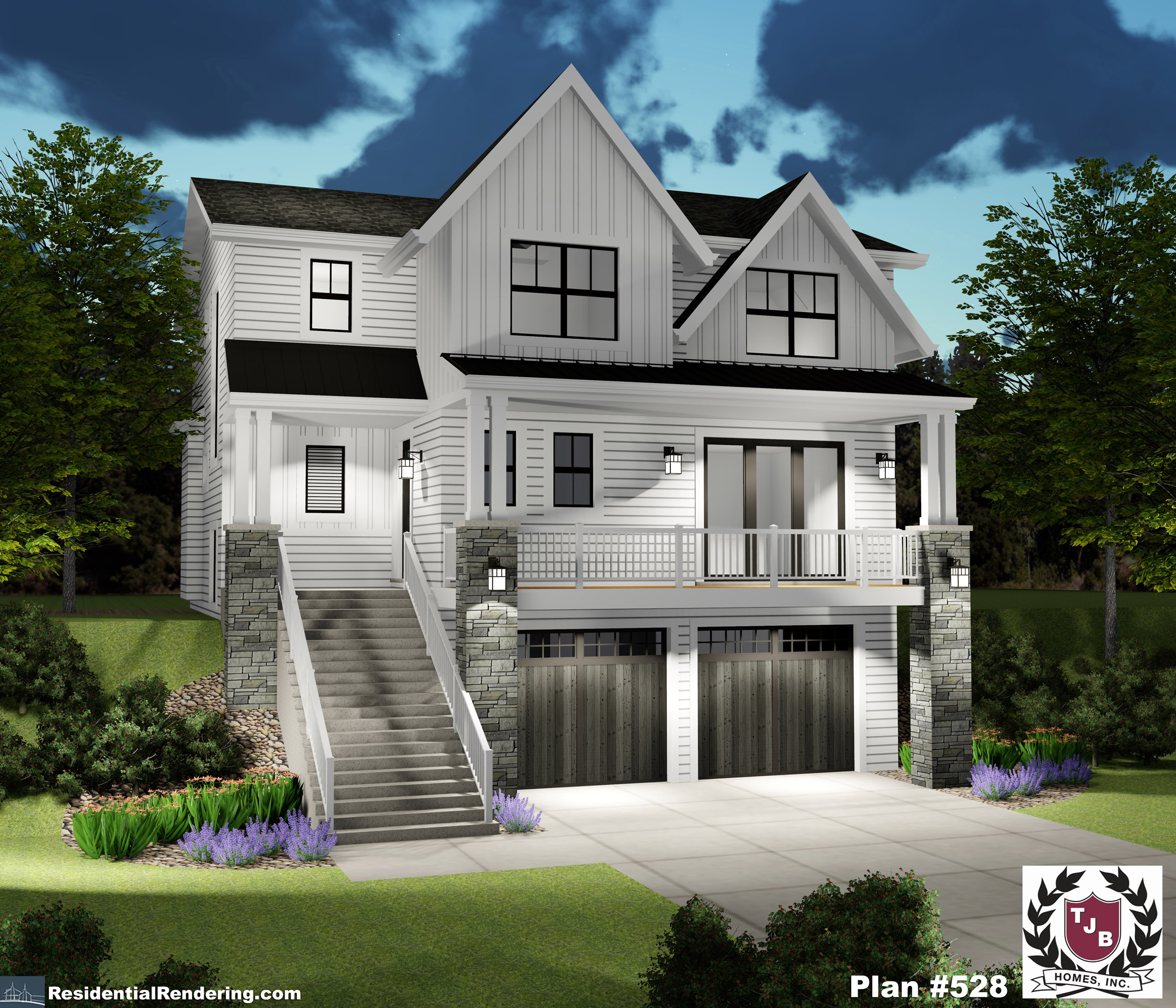 Luxury Home Plan with 5 Bedrooms, 5 Bathrooms, Large Sunroom ... on