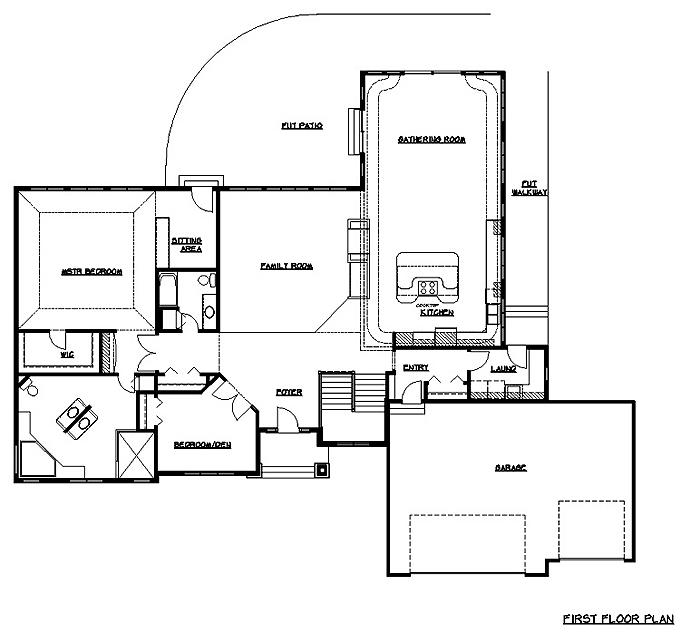 Rambler floor plans 3 bedroom rambler floor plans for Rambler floor plans
