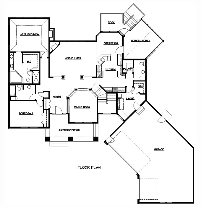 Rambler Floor Plans | Plan #200318 | Tjb Homes