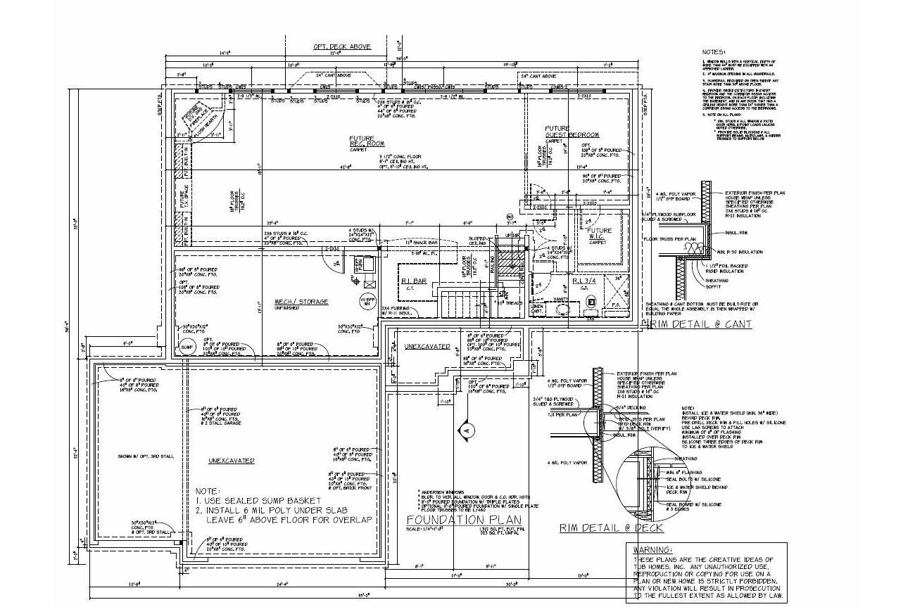 Rambler floor plans plan 203226 tjb homes for Rambler floor plans mn