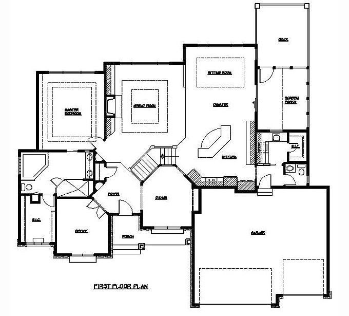 Plan #203411 Main Level Plan