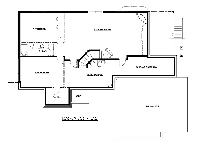 Plan #204185 Lower Level Plan