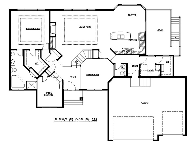 Rambler Floor Plans | Plan #204185 | Tjb Homes