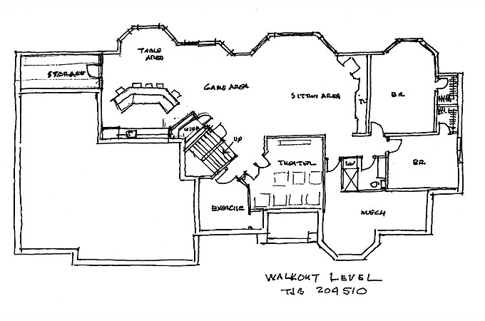 Plan #204510 Lower Level Plan