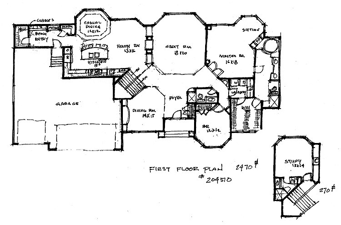 Plan #204510 Main Level Plan