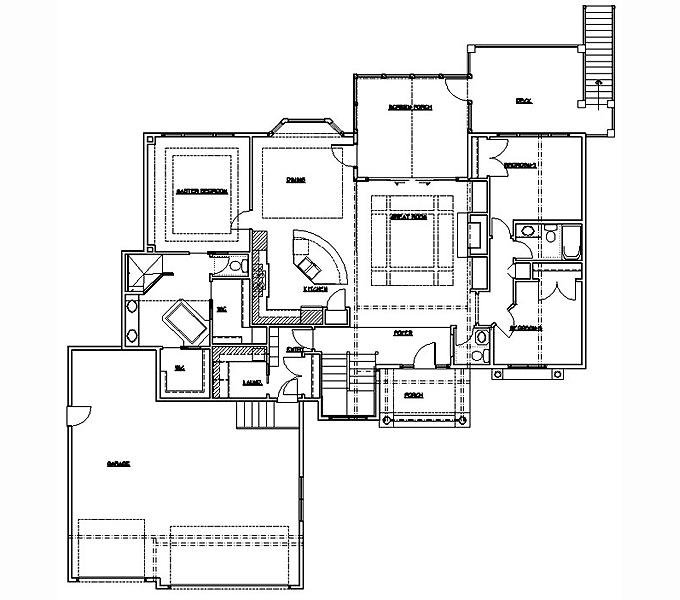 Rambler Floor Plans Plan 204544 Tjb Homes