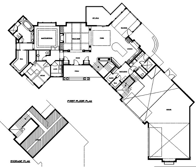 Rambler House Plans With Angled Garage