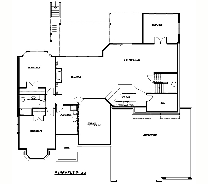 Rambler Floor Plans Plan 205314 TJB Homes