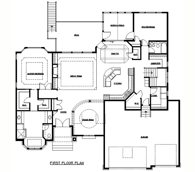100 rambler house plans rambler two bedroom simple house for Rambler house plans with basement