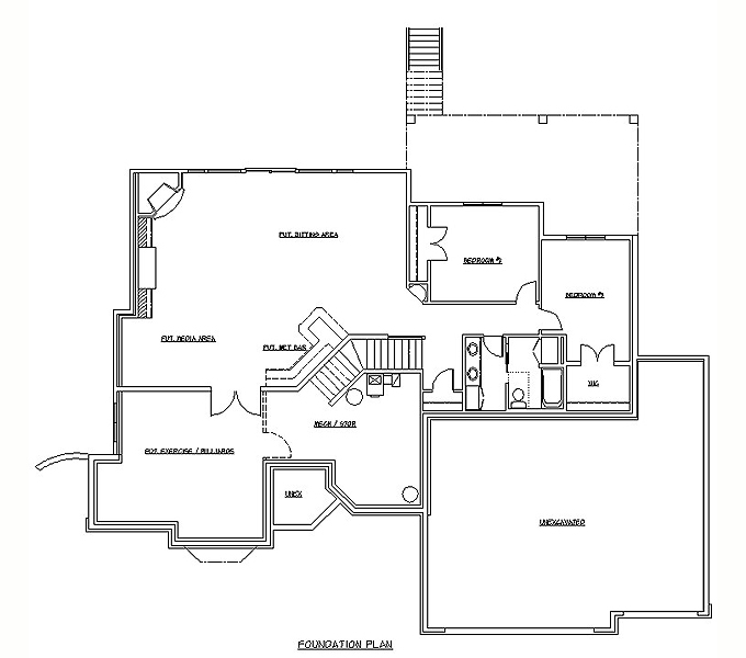 205385 Plan #T.B.D. Lower Level Plan