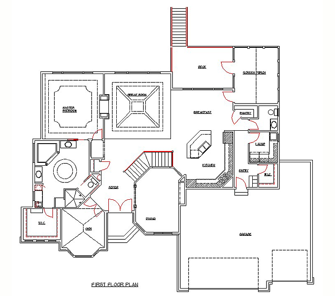 Rambler Floor Plans Home Remodeling Architect Sample