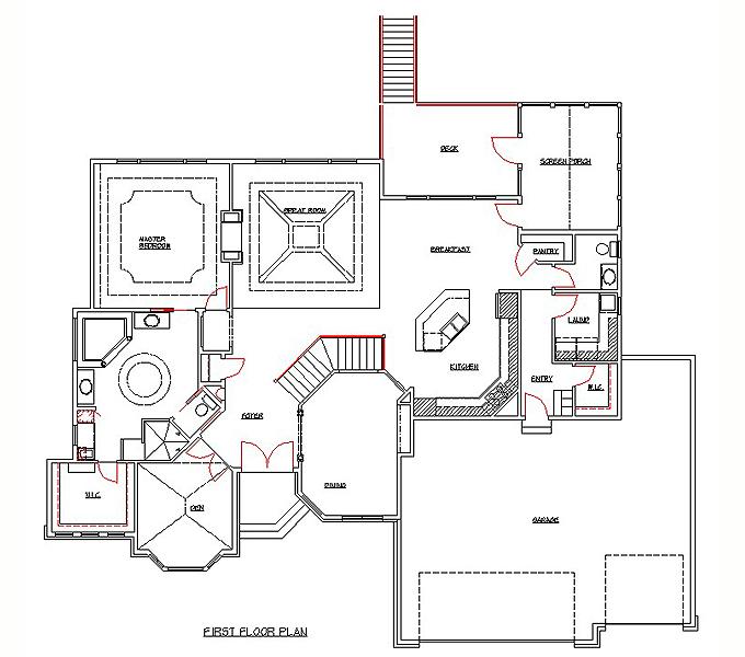 Rambler floor plans plan 205385 tjb homes for Rambler floor plans