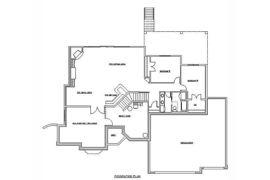 Plan #207185 Lower Level