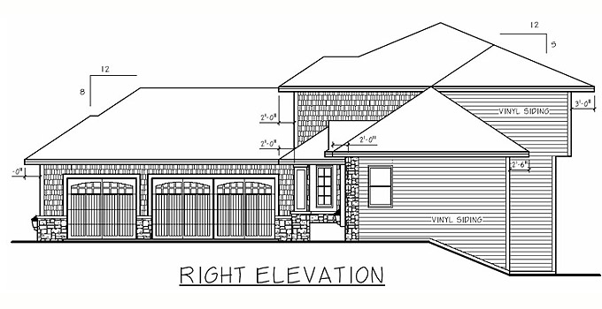 rt-208197 Ramblers Sq Ft House Design on