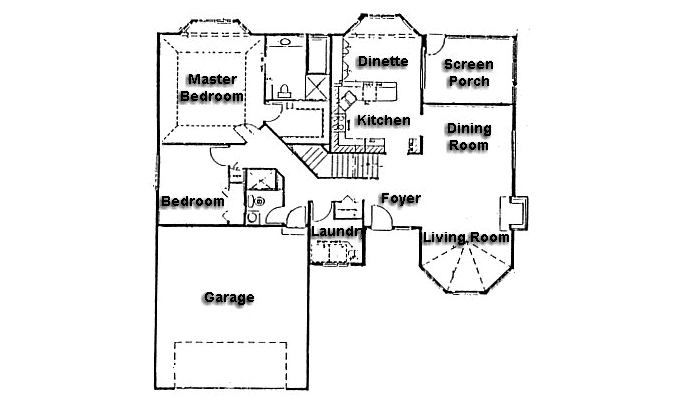 Plan #900191 Main Level Plan