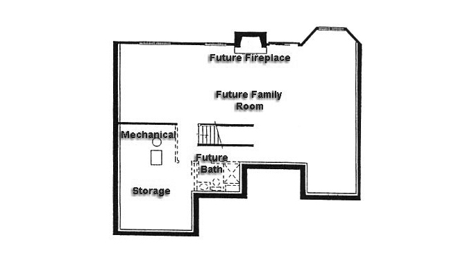 Plan #930397 Lower Level Plan