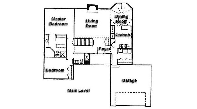 Plan #930397 Main Level Plan