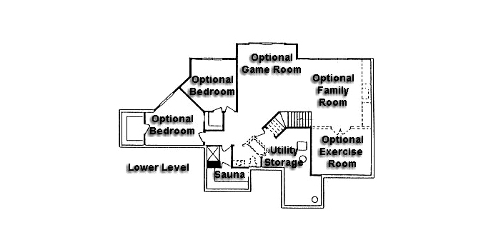 Plan #950424 Lower Level Plan