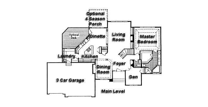 Plan #950424 Main Level Plan