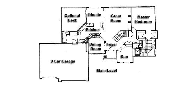 Rambler floor plans plan 950477 tjb homes for Rambler floor plans mn