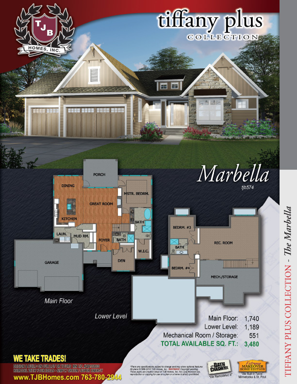 Marbella Home Plan TJB #574