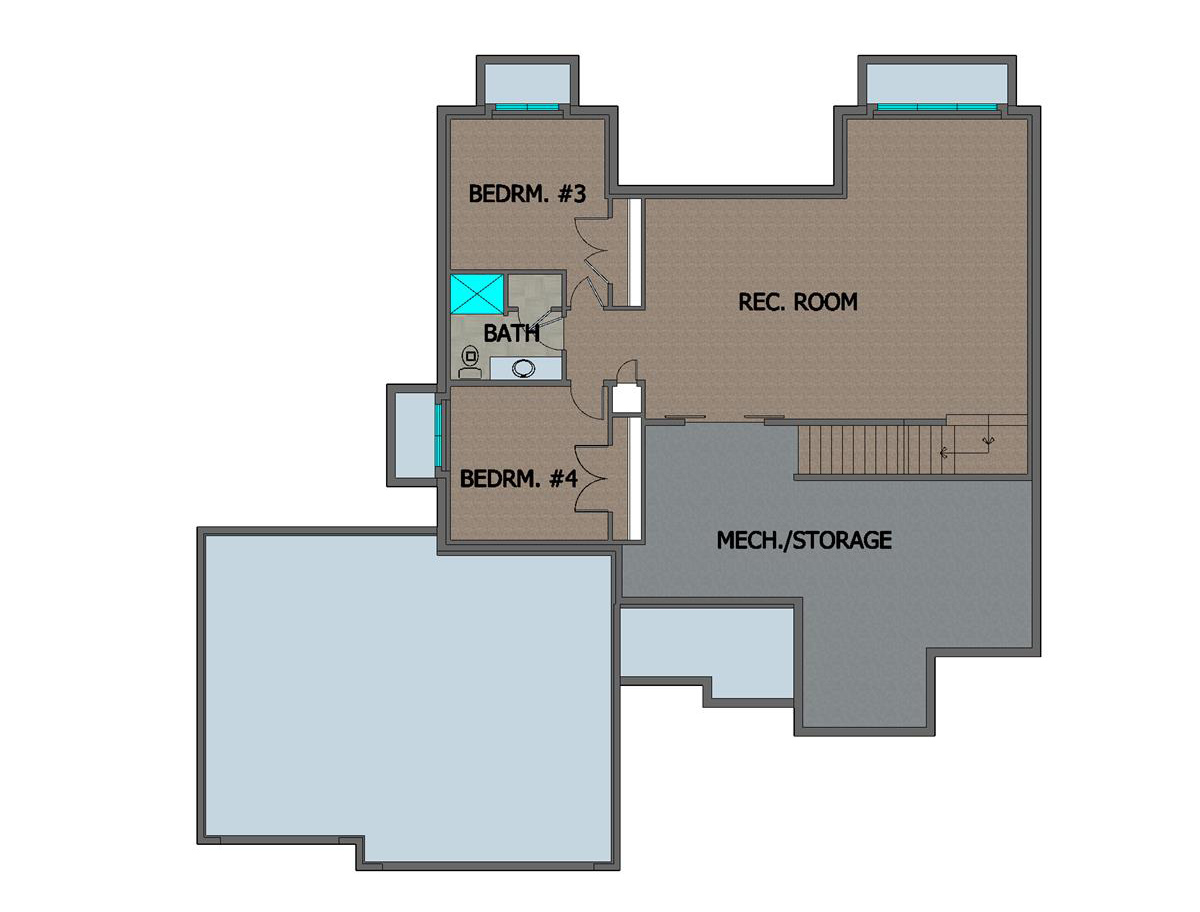 Marbella Home Plan Basement Floor Plan