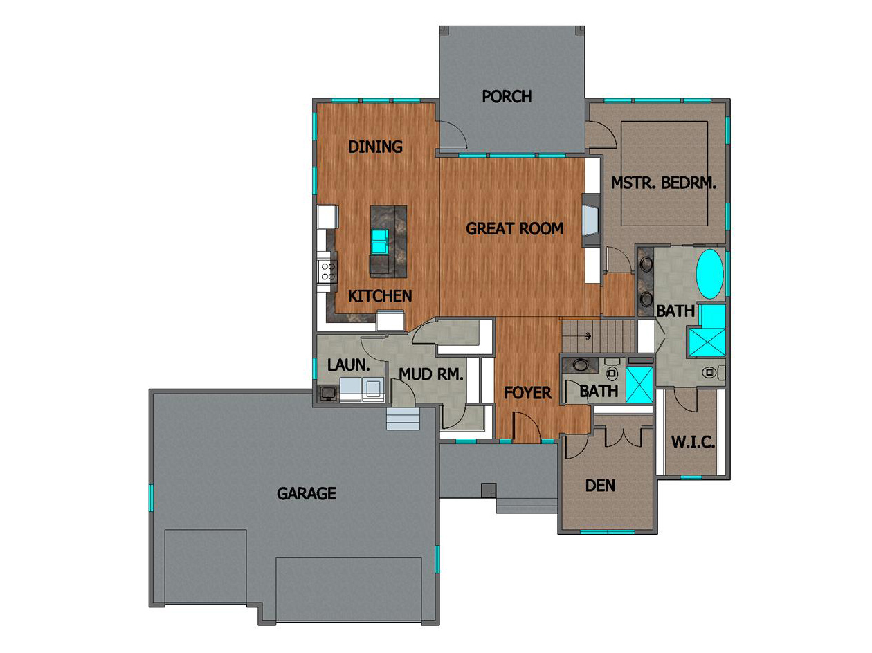 TJB Marbella Home Plan Main Floor Plan