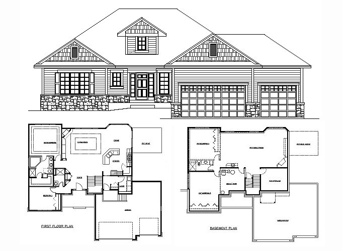 Modern Small House Plans moreover Single Story House Plans With Bat moreover Split Bedroom House Plans One Floor also Walkout Rambler Floor Plans together with One Story House With Basement Plans. on 4 bedroom house plans with walkout bat