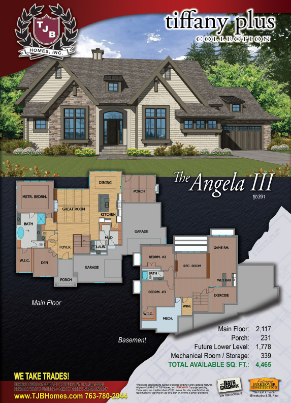 Angela III #391 Home Plan