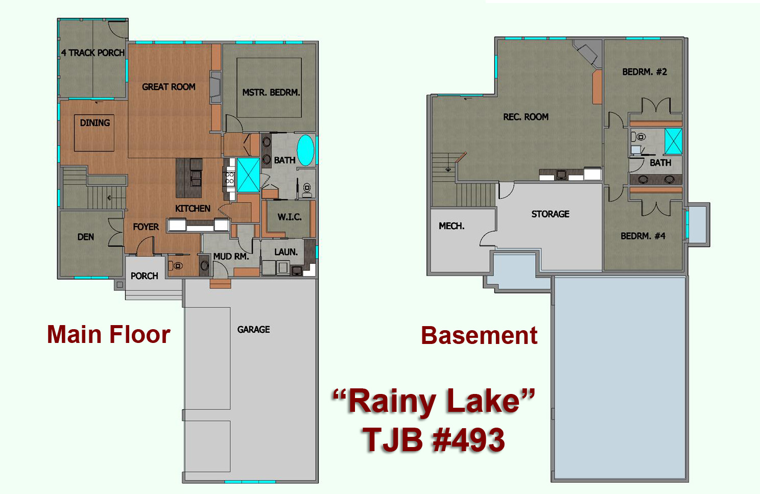 Bayview Villas Rainy Lake Home Plans