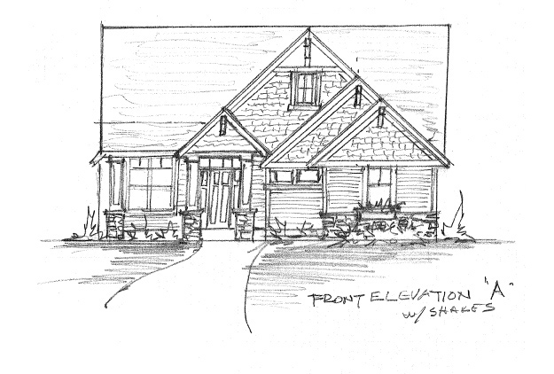 Front Elevation Option A with Shakes