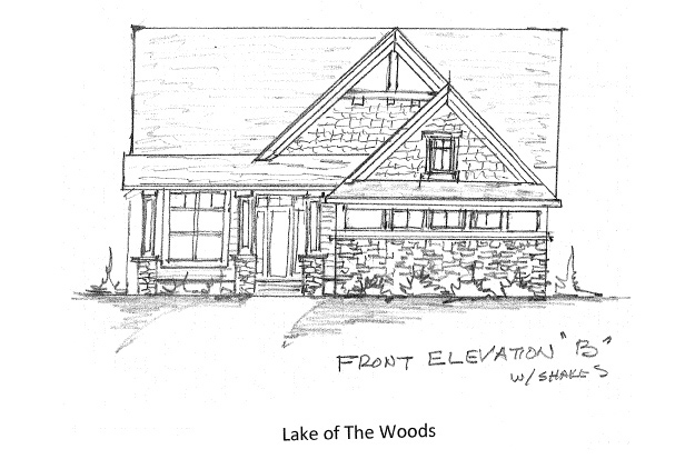 Front Elevation Option B with Shakes