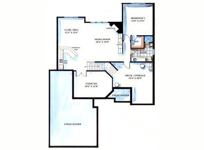 CASTLETROON Lower Level Floor Plan
