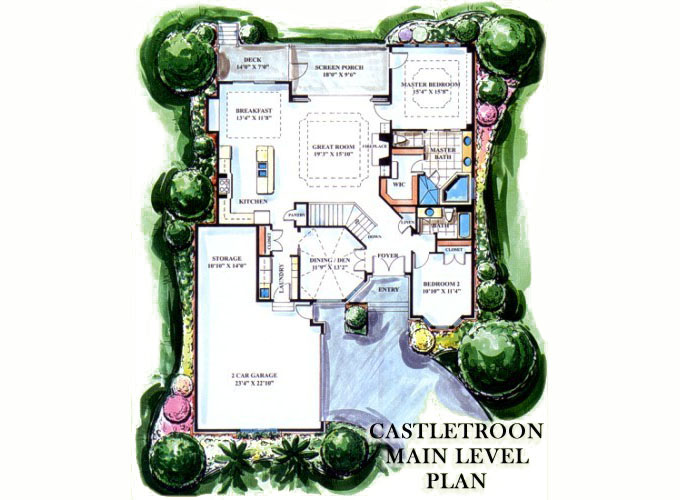 CASTLETROON Main Level Floor Plan