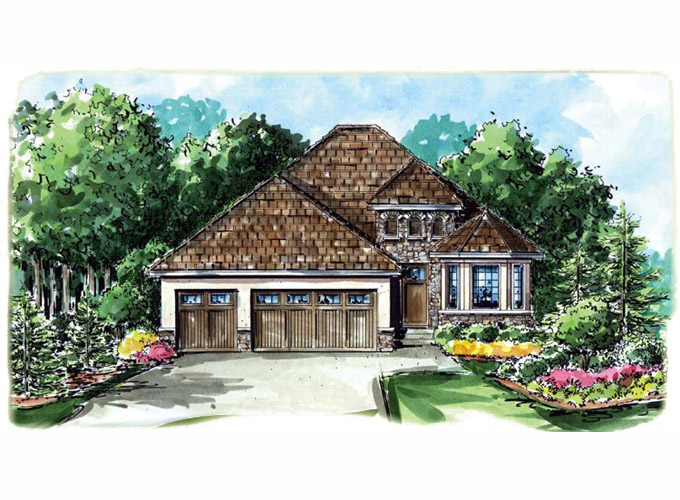 DEVON Home Plan Front