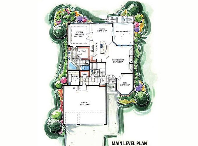 DEVON Main Level Floor Plan