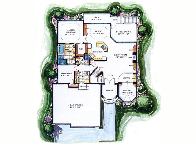 HADDINGTON Main Level Floor Plan