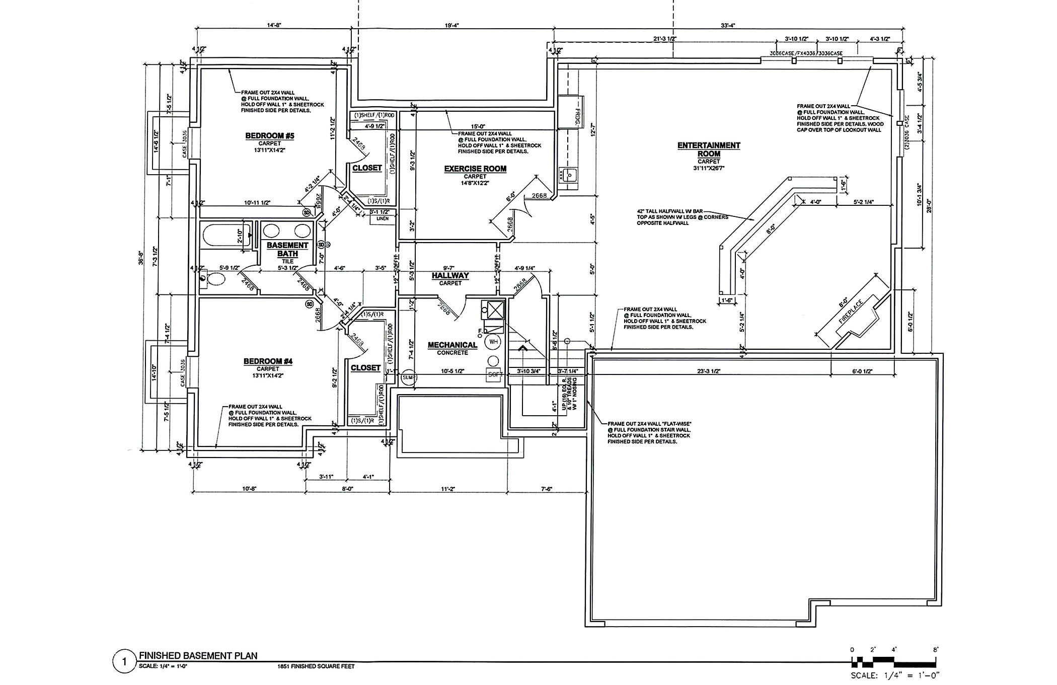 "TJB ""Heidi"" Plan Home Plan Lower Level Floor Plan"