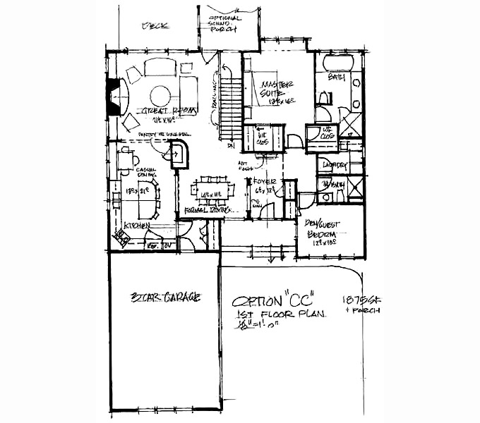 Kilworth Manor Main Level Floor Plan