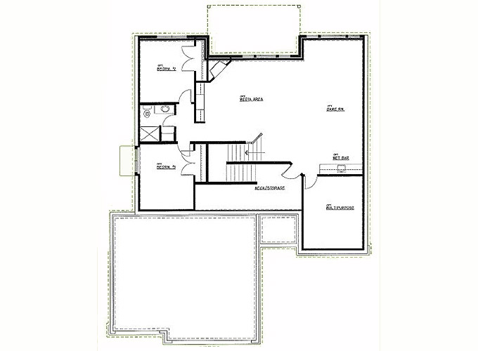 LANCASTER Lower Level Floor Plan