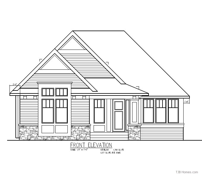 Laura TJB Plan #387 Front Elevation