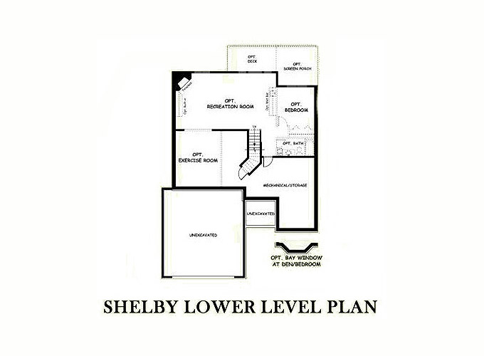 SHELBY Lower Level Floor Plan