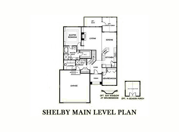 SHELBY Main Level Floor Plan