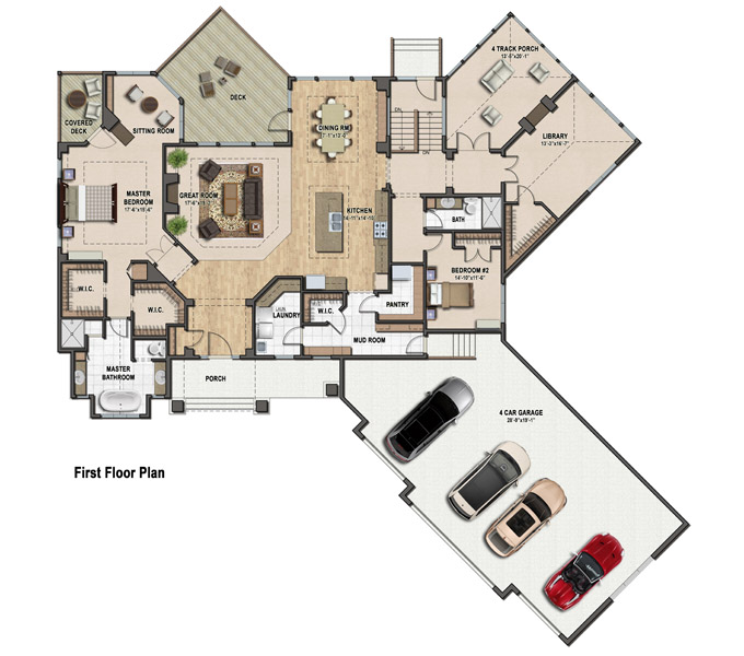 Rambler Floor Plans Plan 260 – Minnesota Lake Home Floor Plans