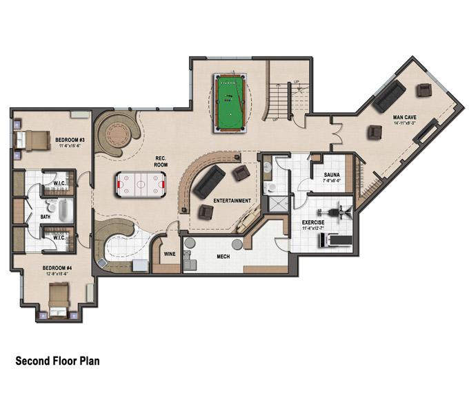 Rambler floor plans plan 260 tjb homes for Rambler floor plans mn