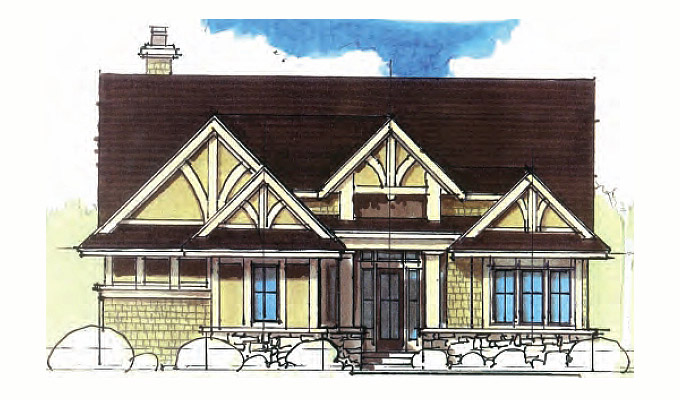 Torre Abbey Home Plan Front Option A