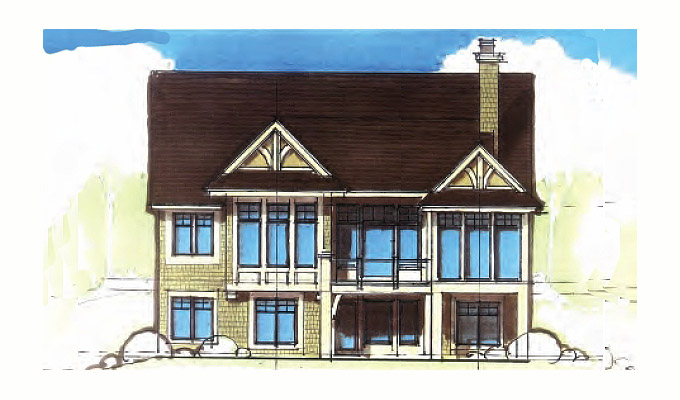 Torre Abbey Home Plan Front Option B