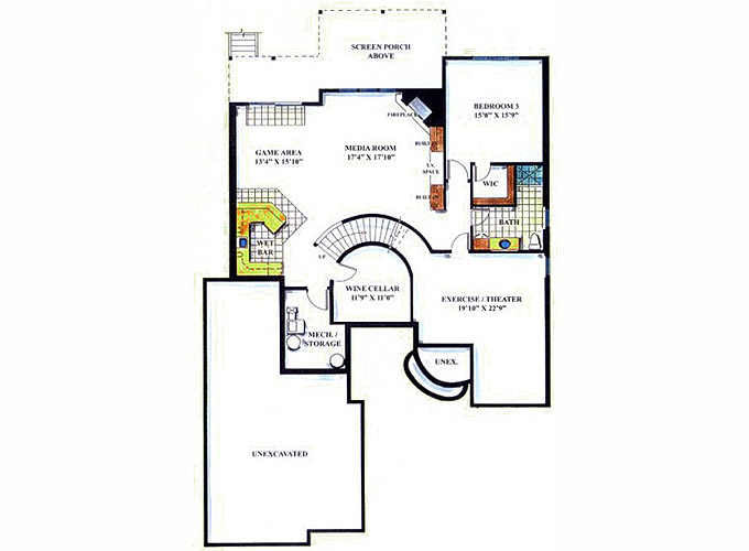 TURNBURY Lower Level Floor Plan